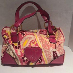 11 inch juicy pink paisley tote bag, used